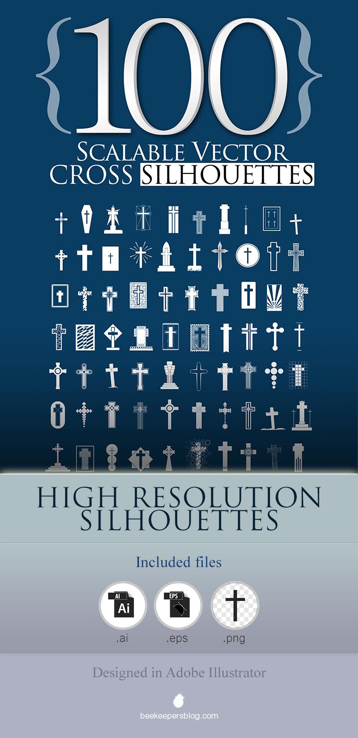 100 Cross Silhouettes Poster.jpg